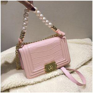 Розовый Sugao женщины цепи сумка Роскошные сумки на ремне дизайнерская сумка бусины crossbody сумки искусственная кожа кошелек 2020 новая мода сумка BHP