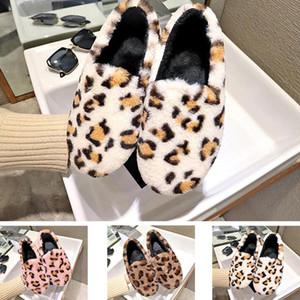 De nouvelles chaussures chaussures Casual fourrure paresseux léopard plat tête basse ronde des femmes, plus de coton en velours hiver taille de vêtements de la maison 35-40