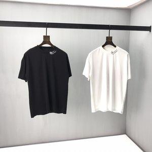 2020 Yaz yeni Hi-sokak Tişört Siyah Gri Kısa Kollu Erkekler Kalça T shirt Artı AB Boyut S-2XL Unisex # 1116