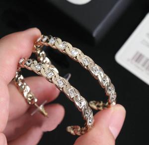 TOP Marke haben Briefmarken Kristall Designer Ohrringe für Dame Frauen Partei Hochzeit Liebhaber Geschenk Engagement Luxuxschmucksachen mit KASTEN LZ0421