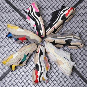 Fashion Designer Paris 17FW Triple-S 2019 Triple S Sneaker Desi Luxury Dad Shoes for Men's Women Beige Black Sports Casual Shoes 36-45