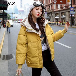 ZQLZ Short Parka Women 2020 Snow Wear Winter Jacket Women Coats Hooded Ladies Coat Female Thick Cotton Padded Jacket