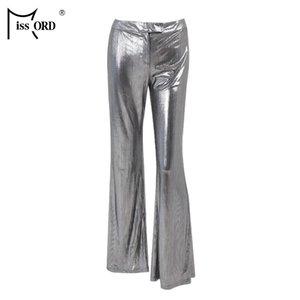 Missord 2019 Kadınlar Seksi Düz Renk Pantolon Rahat Düz Kadın Yüksek Bel Pantolon FT18974