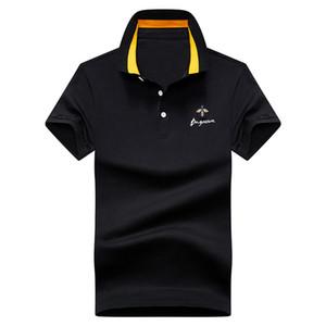 Verano camisa de los hombres de algodón de color sólido ocasional respirable Poloshirt camiseta de los hombres de golf de tenis Ropa Nueva