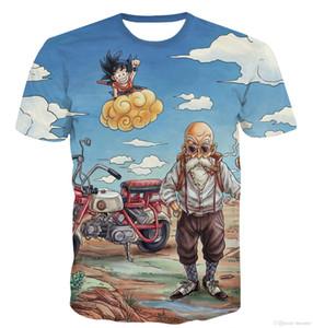 Nouvelle arrivée drôle Master 3D T-shirt d'été Hipster à manches courtes Tops Hommes / Femmes Anime Dragon Ball Z T-shirts Homme