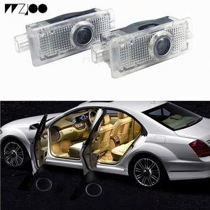 LED 자동차 도어 라이트 로고 프로젝터 환영 그림자 램프 W212 W203 W204 W211 A E B C ML GL 클래스 M 클래스