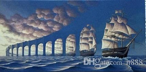 x2Fm- Çerçeveli ROB Gonsalves - GÜNEŞ SAIL, şaşırtıcı Seascape YELKEN Sanat Yüksek Kalite El yapımı Yağı Tuval Çoklu Boyutları On Boyama / Çerçeve Seçenekleri TAKIMLARI