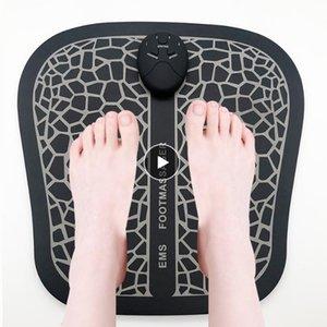 كهربائي EMS القدم مدلك الوسادة أقدام العضلات تحفيز تدليك القدم حصيرة تحسين الدورة الدموية تخفيف الوجع الألم الرعاية الصحية