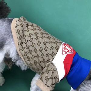 Abbigliamento invernale Pet con cappuccio personalità Stampa Lettera Cotone Fashion Dog Abbigliamento assorbente gatto del cane di Pet Abbigliamento
