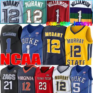 NCAA 12 Ja Morant Jersey Zion 1 Williamson Formalar Deandre 12 Hunter Jersey Coby 0 Beyaz Formalar 23 Jarrett Culver Darius 10 Garland