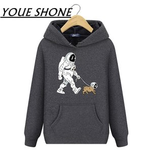 SpaceX Spaceship Rocket men Hoodies Sweatshirt The Walking Dead Astronaut StarmanX Space Dog Hooded Coat Windproof Pullover fitness clothes