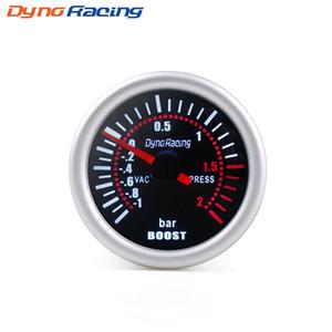 Dynoracing 2 '' 52 мм Универсальный Дымовая Лен Turbo Boost Gauge Bar LED Цифровой Указатель Boost Gauge 12 В Датчик Автомобильный метр BX101310