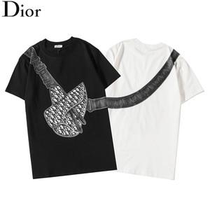 hip hop sokak üst tişört Casual tasarımcı t-shi Baskılı baskılı kısa kollu Avrupa ve Amerikan erkek tişört Crossbody heybe