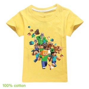 2020 algodón Minecraft Minecraft tapas de los niños los niños y niñas de manga corta de la camiseta de manga corta 2-16year superior T282 del bebé