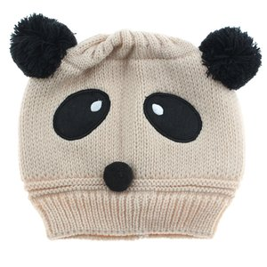 Fashion Winter Knitted Newborn Baby Hat Girls Boys Wool Panda Cap Children Beanie Infant Toddlers Knit Crochet Warm Child