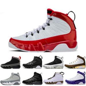 Nouvelle arrivée 9 9s hommes chaussures de basket-ball LA Bred OG Tour Yellow PE Anthracite Le Spirit 2010 REJET entraîneurs sportifs US 7-13