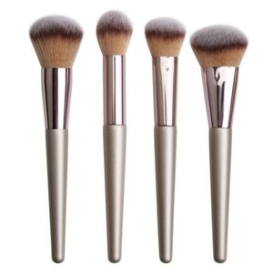 MAANGE Champagne gold 4Pcs Makeup Brushes Kits Foundation Powder Brush blush brush set 10sets lot DHL