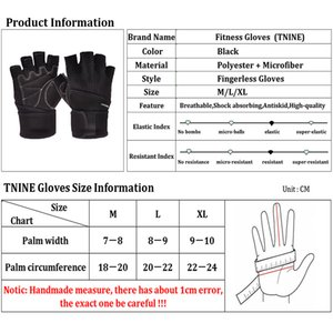 Drop Shipping Workout Gym Gloves for Men Fingerless Fitness Gloves with Wrist Strap Gloves Rekawiczki Weight Lifting Guantini