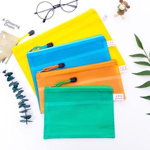 تصنف ملف تخزين القرطاسية حقيبة شبكة سحاب مجلد البلاستيك للماء الملف حقيبة وثيقة ثخن الجيب المحفوظات حقائب DBC BH1488