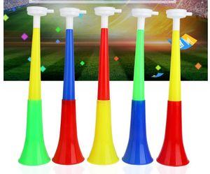 Dünya Kupası Futbol Fan Plastik Boynuz Vuvuzela Boynuz Tezahürat Boynuzları Ulusal Bayrak Trompet Düdük Gürültü Maker Yenilik Öğeleri