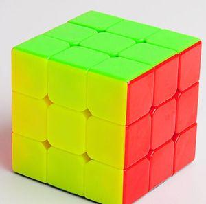 장난감 선물 상자 어린이 장난감 어린이를위한 사이클론 소년 없음 스티커 매직 매직 큐브 3x3x3 Stickerless 속도 게임 퍼즐 울트라 부드러운 트위스트 장난감