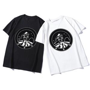 20ss Mens Stylist-T-Shirt Mode Hip Hop Männer Frauen Astronaut Druck-Baumwoll Kurzarm Herren Casual T-Shirts Größe S-2XL