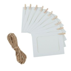 10Pcs Paper Photo Frame Wall Hanging Picture Album Rope Clip DIY Home Decor AIA99