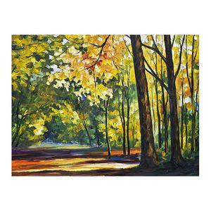 "30 ""x 40"" مسار الغابات رسمت باليد قماش النفط الطلاء البليت سكين غرفة المعيشة أريكة خلفية الجدار الديكور اللوحة اللوحة الأوروبية"