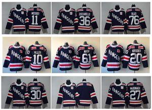 2018 Winter Classic NY New York Rangers de hockey jerseys 36 Mats Zuccarello 27 Ryan McDonagh Lundqvist Miller Nash 76 Brady Skjei 93 Zibanejad