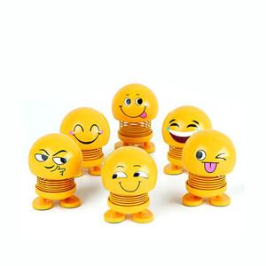 Auto Scuotere la testa Giocattoli Auto Interni ornamenti Accessori Emoji Shaker Auto Decori Primavera Scuotere la testa Toy Doll Decoration