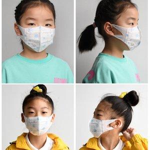 Máscaras al por mayor del niño de mascarillas desechables niños se enfrentan a alumnos de protección civil de tres capas a prueba de polvo de soplado en fusión de tela 3Para 6 años Máscara del viejo
