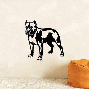 Мода смазливая Французский бульдог собака Виниловые наклейки стены дома украшения наклейки Art Cut Dog Wall Papers Home Decor Фреска FQ0005