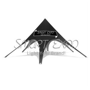 Carpa al aire libre de la estrella de Dia10mx H5m, tiendas de lujo del top de Signle para la promoción al aire libre con el marco de la tienda de la tela de la fibra sintética del PVC 550g