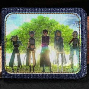 Portefeuille SAO Kawahara Reki écrit porte-monnaie Sword Art Online - Coffret note de caisse courte en argent