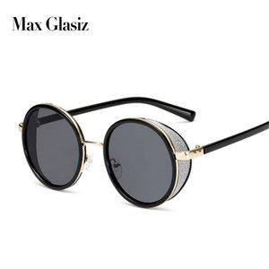 Max Glasiz 2019 Retro Vintage Mode-Rund Sonnenbrillen für Frauen Kreis geformt reflektierende Spiegel Sonnenbrillen für Damen feminino