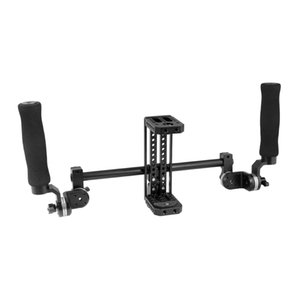 CAMVATE Simple Monitor Cage Kit With Dual Rosette Handgrip & Light Stand Head Item Code: C2419