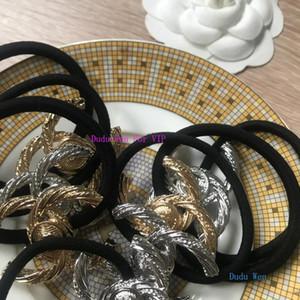 satışa ~ özel moda Saç Aksesuarları koleksiyon öğesi Metal Saç Tie C Desinger Metal Saç Halat elastik hairband parti VIP hediye papercard