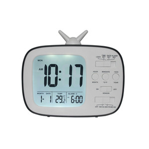 LED-Wecker Digital-Snooze Tischuhr Wake Up Licht Elektronische Große Zeit-Temperatur-Anzeige Home Decoration Kinder Uhr