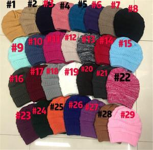DHL libero 36 colori Cappello di modo delle donne di caduta Cappelli invernali maglia Beanie Ragazze Cappelli cappelli caldi Ear Protection cappello di lana della protezione della sciarpa all'ingrosso