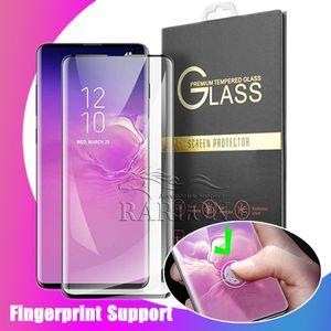 إلى Samsung S10 Tempered Glass 3D منحني حالة ودية شاشة حامي السينمائي ل Galaxy S10 Plus note 10 9 Huawei P30 Pro LG G8 مع يحزم