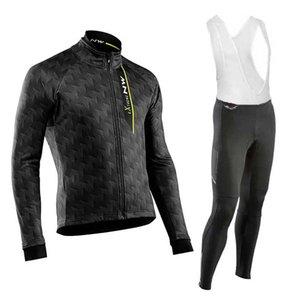 2019 Northwave Extreme New Cycling Jersey à manches longues et pantalons de cyclisme vélo Kits cycle de sangle O19121604