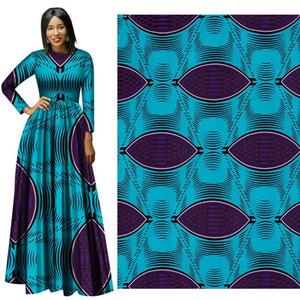 Nouveau Africain De Haute Qualité 6 Mètres Africain Garanti Néerlandais Cire Imprimer Bazin Tissu Binta Réel Cire 100% coton Tissu