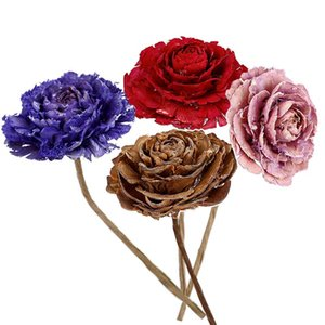 4~6CM Roses Flowes Head,Length 25CM Real Natural Dried Pressed Flower,decorative Handmade Rose Branch For Living Room,Home Decor