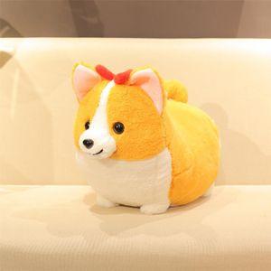 38/45/60 cm Cute Fat Shiba Inu Dog Plush Toy Stuffed Soft Kawaii Corgi Chai Dog Cartoon Pillow Lovely Gift para niños Bebé niños