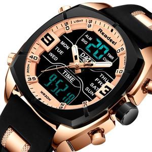Led Digital Clock quarzo uomo orologio impermeabile relogio masculino gli uomini della vigilanza Readeel Mens di marca di sport orologi da uomo