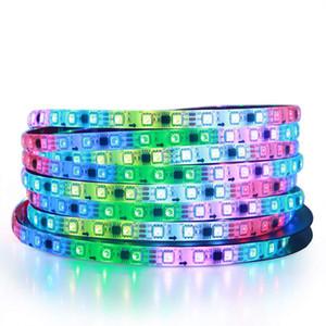 WS2811 IC Pixel RGB LED Strip SMD 5050 RGB DC12V 30 / 60LEDs / M IP20 / IP65 direccionable de color RGB DIY