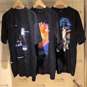 Digital Printing Übergrößen T-Shirt Männer Frauen 1 Qualitäts-Stickerei T-Shirt Top-T-Shirts