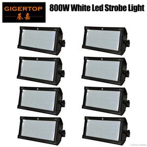 8 x LED Süper Strobe Işıklar 800W Beyaz LED Sahne Aydınlatma Etkisi Dj Parti Şovları Strobe Işıklar DMX Lazer Projektör Işıklar