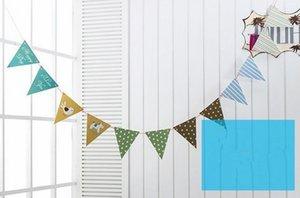 뜨거운 축제 이벤트 12 플래그 멧새 페넌트 플래그 배너 화환 웨딩 / 생일 / 아기 샤워 파티 장식