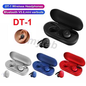 DT1 DT1 TWS Mini Fone de ouvido Bluetooth sem fio verdadeira Earbuds fone de ouvido Esporte fone de ouvido à prova d'água estéreo com microfone carregamento Box 4 cores